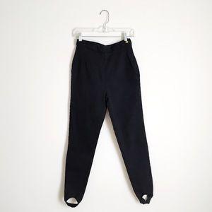 Vintage Black High Rise Stirrup Mom Jeans